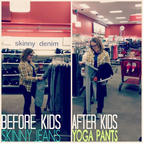 #Motherfunny NickMoms shopping at target Before and after kids #shop skinny jeans yoga pants