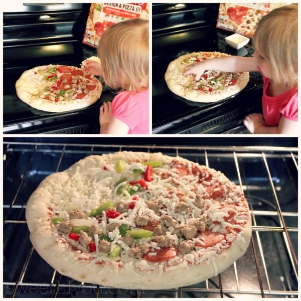 Avery is my little kitchen helper! #DesignAPizza #Digiorno  #shop #cbias