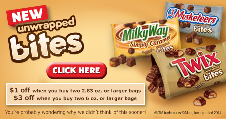 TWIX Bites coupon Social Twist