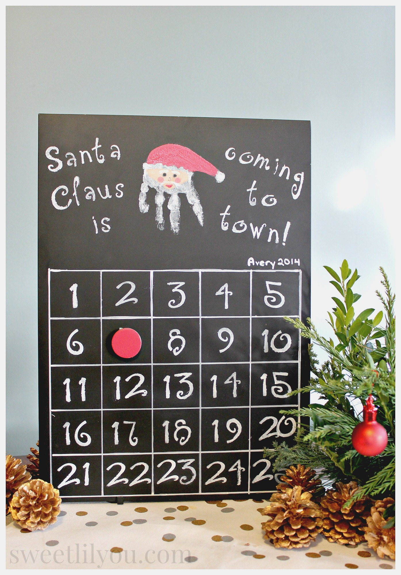 Diy Calendar Countdown : Christmas countdown calendar diy sweet lil you