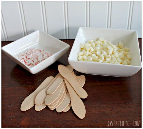 Pepermint stir spoons ingredients