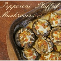 Pepperoni Stuffed Mushrooms - #PepItUp #ad