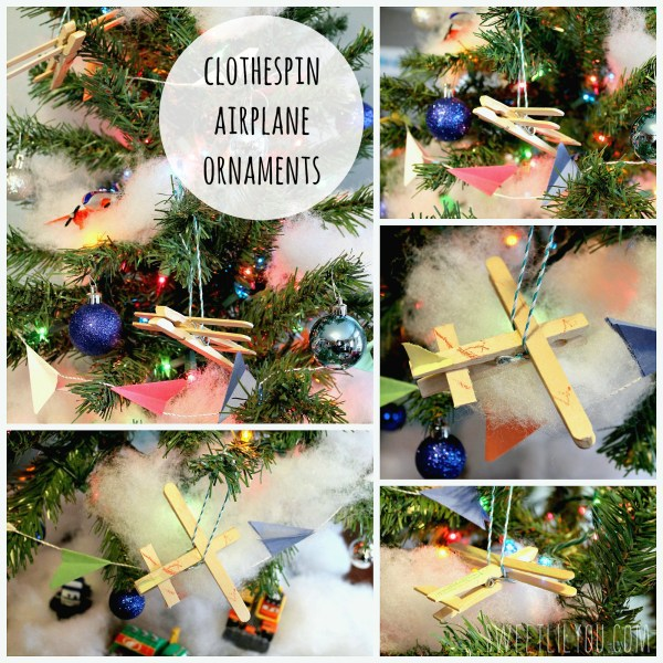 wooden plane ornaments clothespin #PlanesToTheRescue #ad