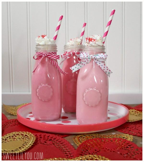raspberry white chocolate milk