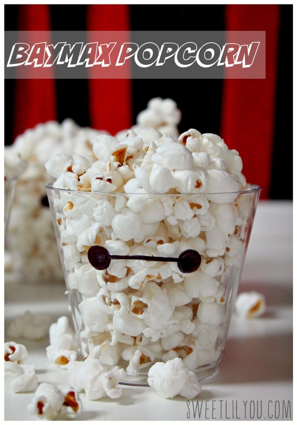 Baymax popcorn cups! #BigHero6Release party! #ad