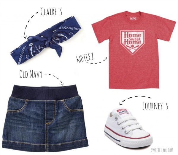 Baseball style for toddler girls