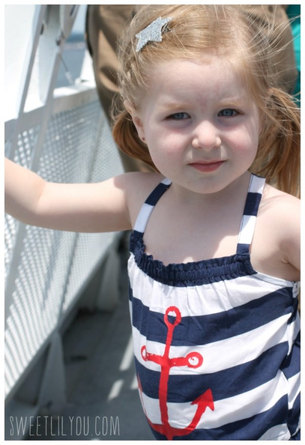 Avery on the top deck
