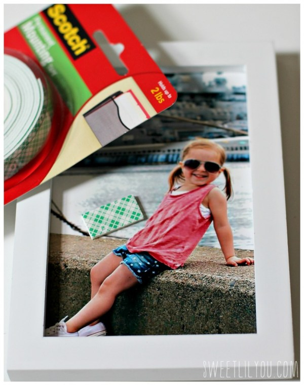 Use Scotch Brand Permanent Mounting Tape to make photos pop