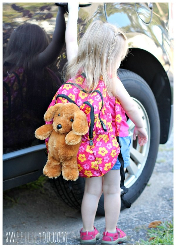 Adorable puppy backpack