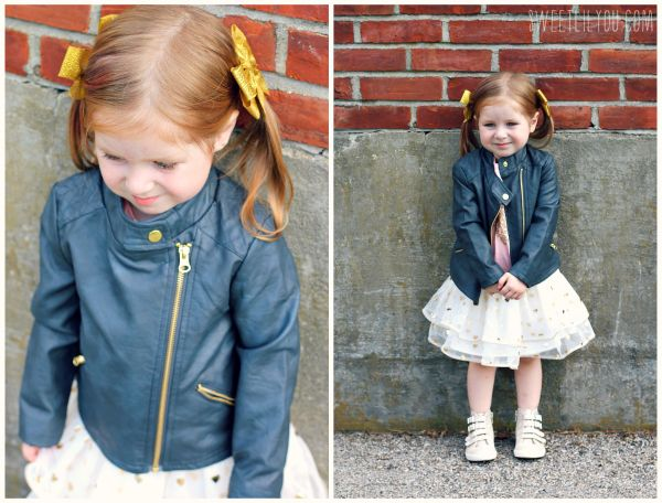 Girls Faux Leather Jacket from Target