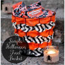 DIY Simple Halloween Treat Basket