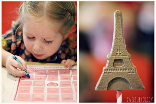 French Bingo Eiffel Tower choclate