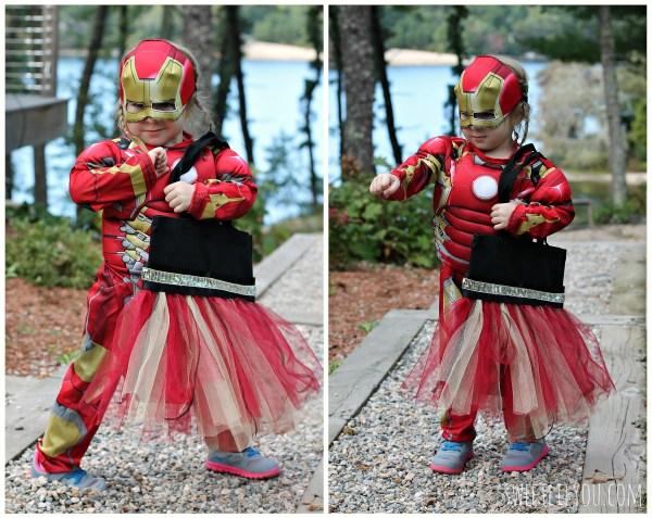 Iron Ma Halloween costume and DIY treat bag
