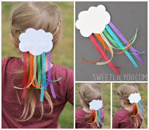 Cute rainbow barrette