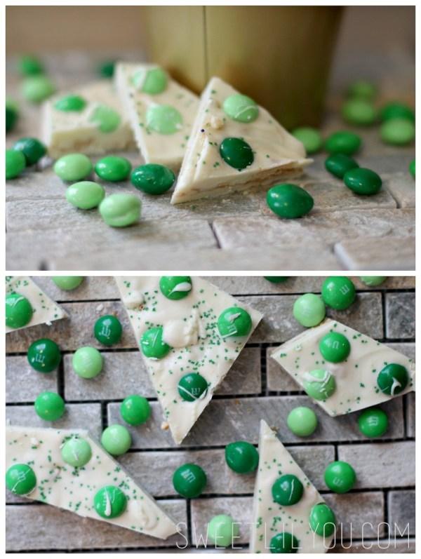Green candy bark