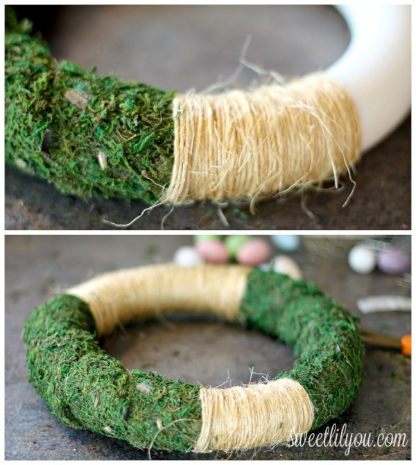 moss and twine wreath
