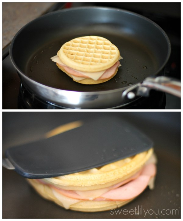 Cuban Waffle grilled cheese