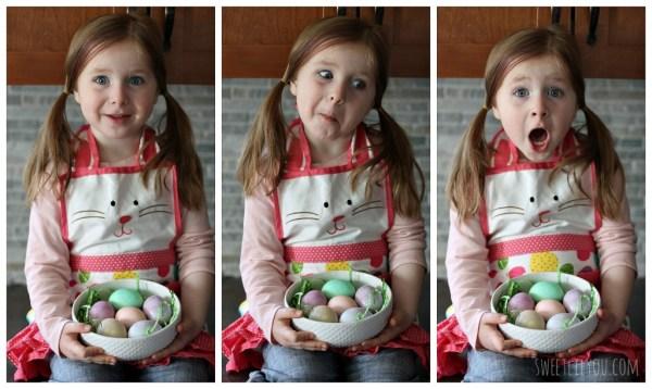 Easy Easter Egg dyeing for kids