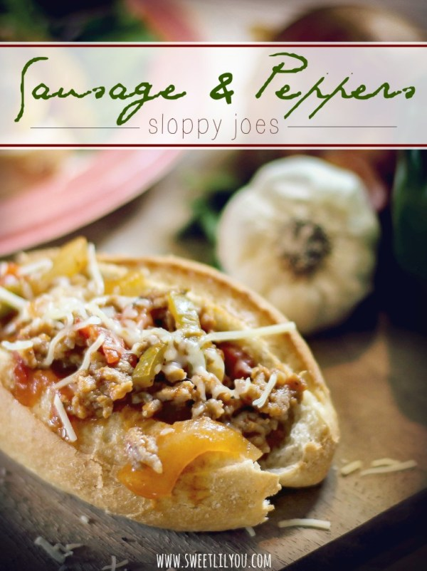 Sausage and Peppers Sloppy Joes #SummerSoStrong #ad