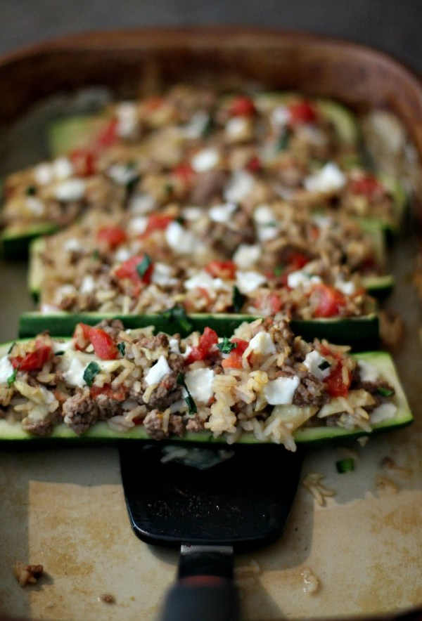 Baked Italian Stuffed zucchini