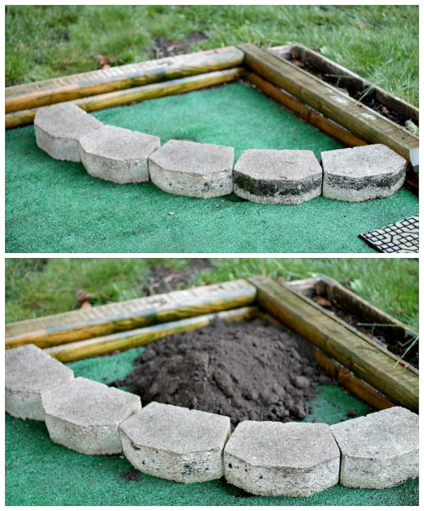 Lay out stone border
