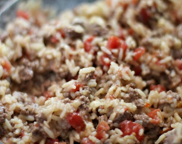 Stuffed Zucchini Filling with rice, tomato, and ground beef