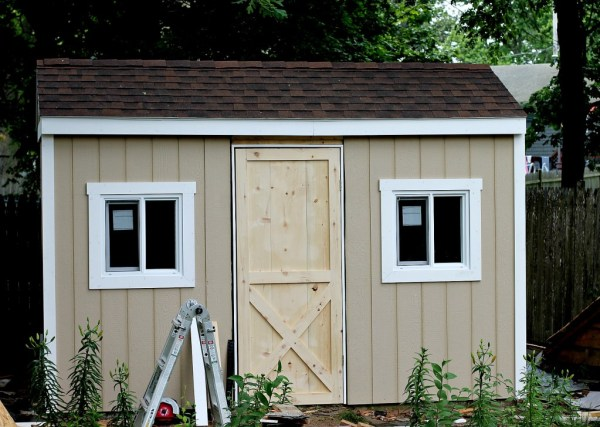 shed with door