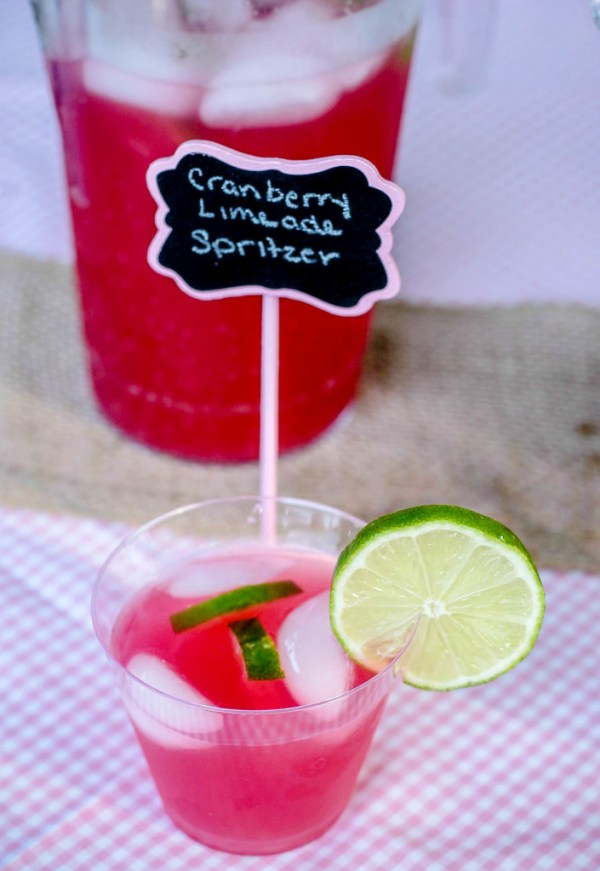 Cranberry Limeade Spritzer