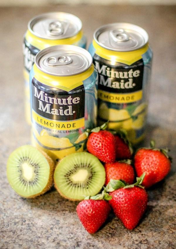 Ingredients for strawberry kiwi lemonade