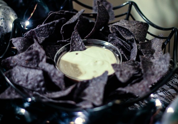 black and white chips and dip