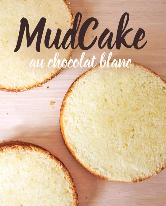 gâteau mud cake au chocolat blanc