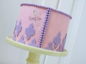 Layer cake rose et violet