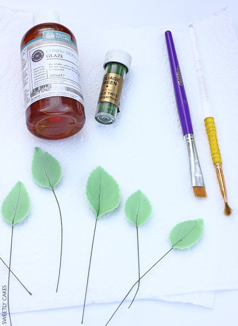 colorer les feuilles de rose