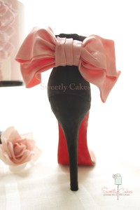 Chaussure en pâte à sucre
