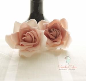 Rose en gumpaste vintage