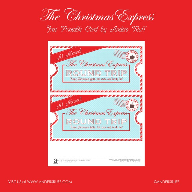 FREE Printable Christmas Express Train Tickets!