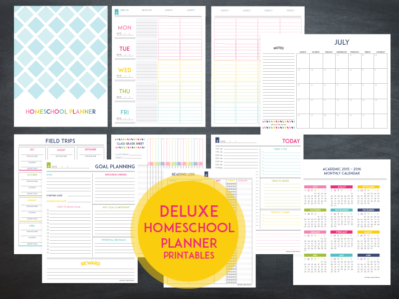 Lesson Planner Template - The Deluxe Homeschool planner - homeschool schedule template