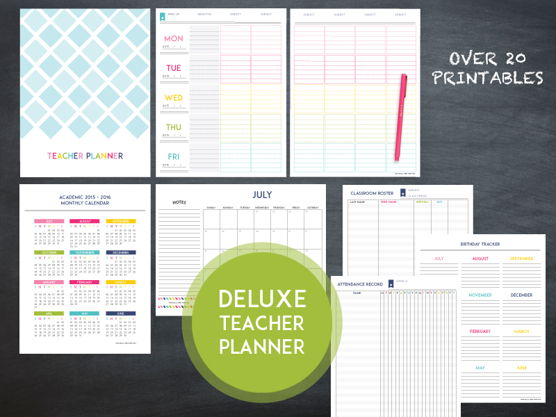 The Deluxe Teacher Lesson Planner - Sweet Paper Trail