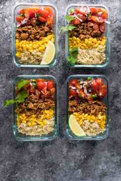Hilarious Se Turkey Taco Lunch Bowls Are Make Ahead Worklunch Turkey Taco Lunch Bowls Peas Saffron Ground Turkey Tacos Weight Watchers Ground Turkey Tacos El Paso