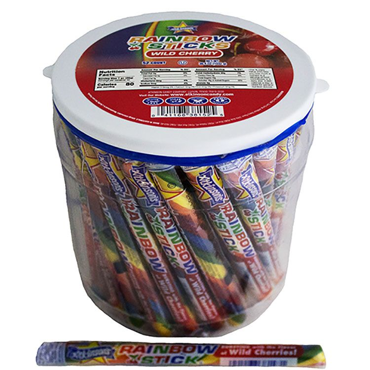 Wholesale Wedding Distributors Atkinson Rainbow Sticks Cinnamon Candy Sweetservices
