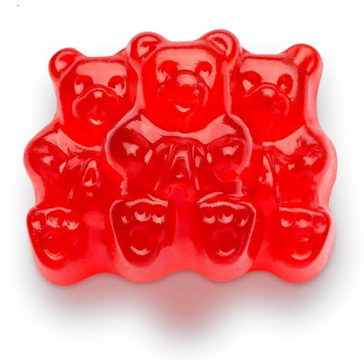 Wholesale Wedding Distributors Albanese Wild Cherry Gummi Bears 5 Lb Bag Red Candy