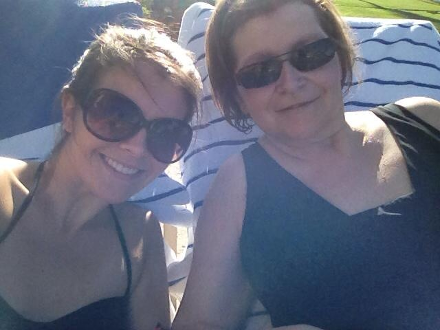 pool pic mom and i