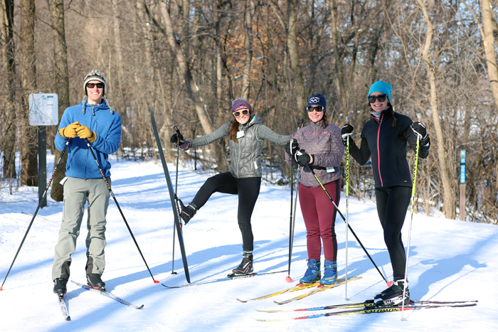 skate skiing at hyland park reserve in minneapolis