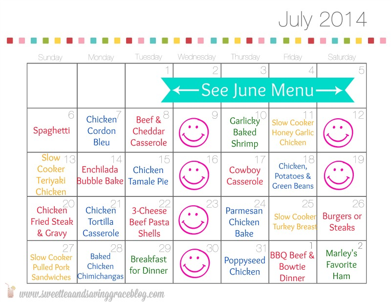 How to Meal Plan for a Month {or More!} Sweet Tea  Saving Grace