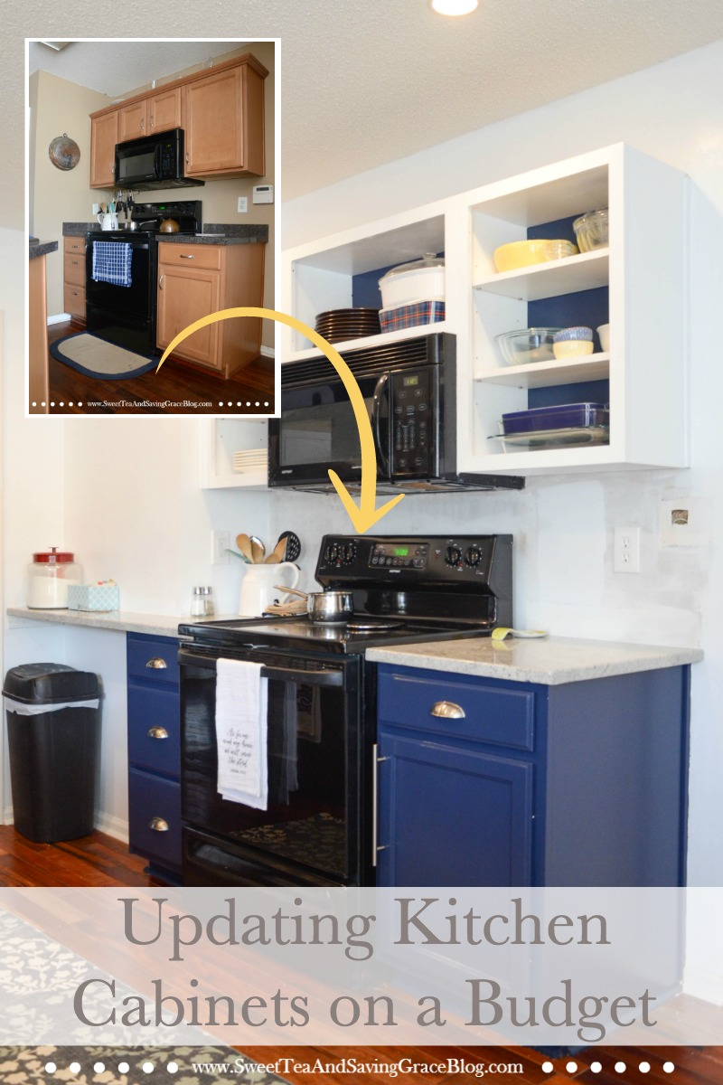 How To Update Kitchen Cabinets How To Update Kitchen Cabinets On A Budget Sweet Tea Saving Grace