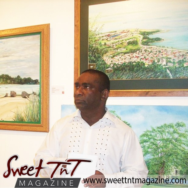 Artist Cliff A Birjou for Lifestyle section in sweet T&T for Sweet TnT Magazine in Trinidad and Tobago