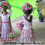 Girls in pink and white dresses at special needs children Easter Bonnet parade at Queen's Park Cricket Club, color eggs, Sweet T&T, Sweet TnT, Trinidad and Tobago, Trini