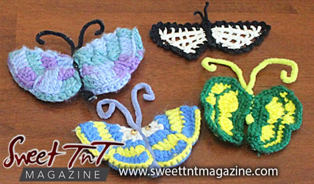 Knitted butterflies
