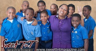 Kezia Reece with students, selfless principal, photo Sheldon Moore, Sweet T&T, Sweet TnT, Trinidad and Tobago, Trini, vacation, travel,