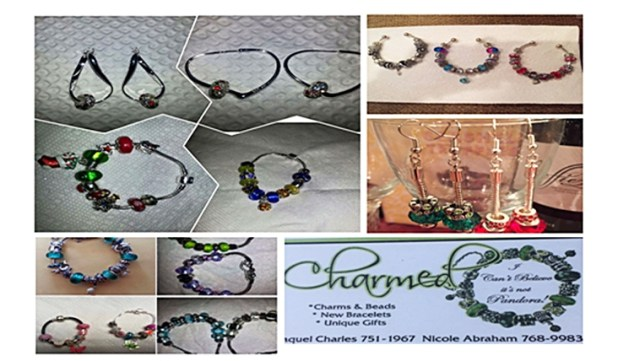 """Charmed (I can't believe it's not Pandora) Jewelry by Racquel Charles and Nicole Abraham A """"build your own design"""" costume jewelry in sweet T&T for Sweet TnT Magazine, Culturama Publishing Company, for news in Trinidad, in Port of Spain, Trinidad and Tobago, with positive how to photography."""